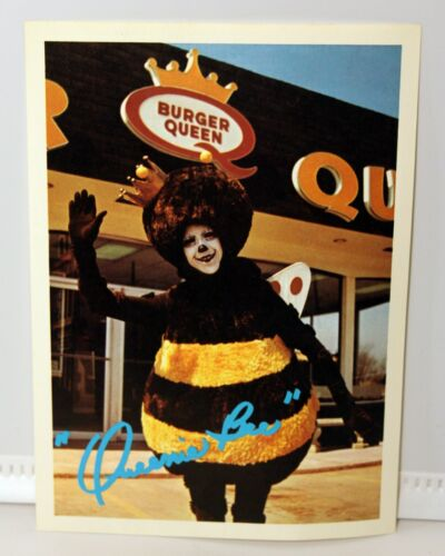 "vintage Burger Queen /""Queenie Bee/"" photo card 5 x 7 inches"