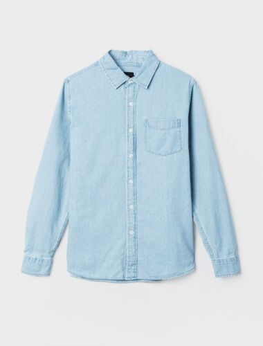 Stussy Men Denim Shirt blue light blue