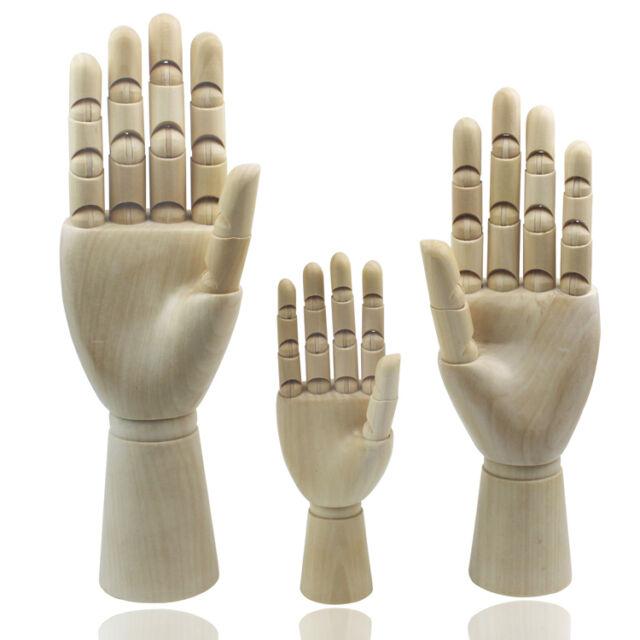 Wooden Hand Body Artists Model Art Articulated Wood Sculpture Sketching Tool