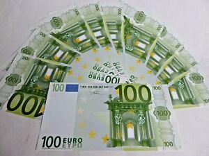 1 000 Euro 10 X 100 Scheine Vergrossert Vielseitig Verwendbar Party Gag Ebay