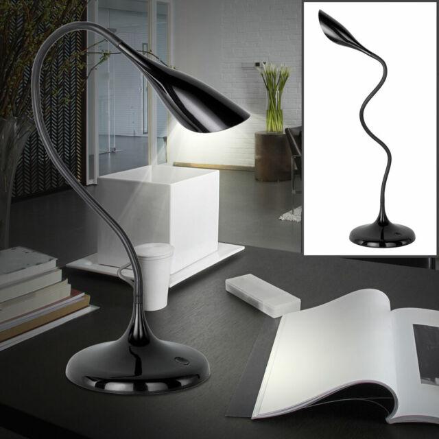 Luxus LED Tisch Leuchte Glas Lese Beistell Lampe Wohn Ess Zimmer Flexo Strahler