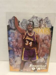 1997-98-Topps-Rock-Stars-RS13-Shaquille-O-039-Neal-Die-Cut-SP-Lakers