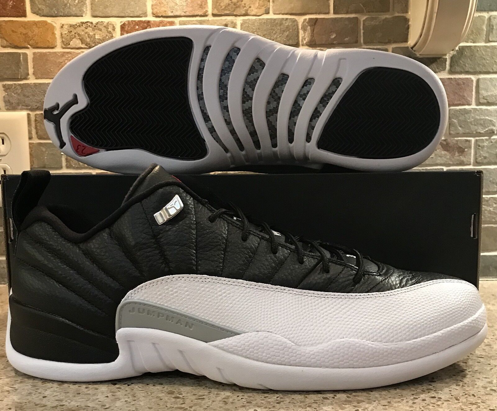 d478926ad1b Nike Air Jordan 12 Retro Low Playoffs Black Red Mens Sz 15 308317 004 White  NWB nyrvkv2482-Athletic Shoes