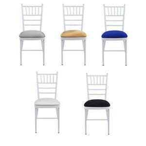 SPANDEX-LYCRA-SEAT-PAD-COVER-WITH-ELASTICATED-EDGE-For-Chivari-WEDDING-CHAIRS