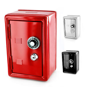 New-Safe-Security-Metal-Money-Bank-Deposit-Cash-Savings-Saving-Box-2-Keys