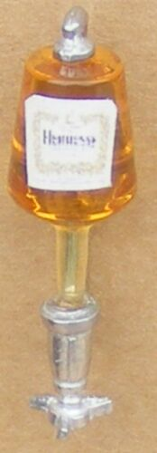 1:12 Scale Hennessy Brandy Bottle In Natural Pewter Optic Tumdee Dolls House Pub