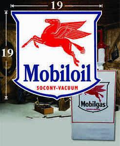 Patch Iron on Mobil Mobilgas Mobiloil Gas Oil Pump Station Emblem Advertising