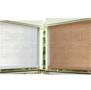 Outdoor Privacy Sun Shades Window Roll Up Patio Blinds Deck Screen Cordless Cool Ebay