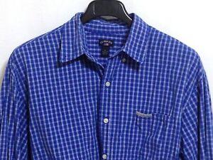 U-S-POLO-ASSN-Men-039-s-Size-XL-Blue-White-Check-100-Cotton-Long-Sleeve-Shirt