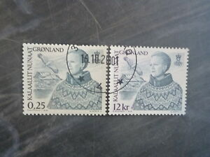2001-GREENLAND-QUEEN-MARGRETHE-II-NEW-VALUES-SET-2-USED-STAMPS