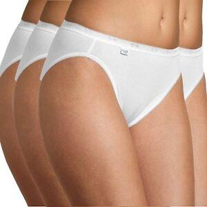 0a67352bc1a8 Sloggi Women Basic 4 Pack Tai Brief, White, Underwear, Panties, Slip ...