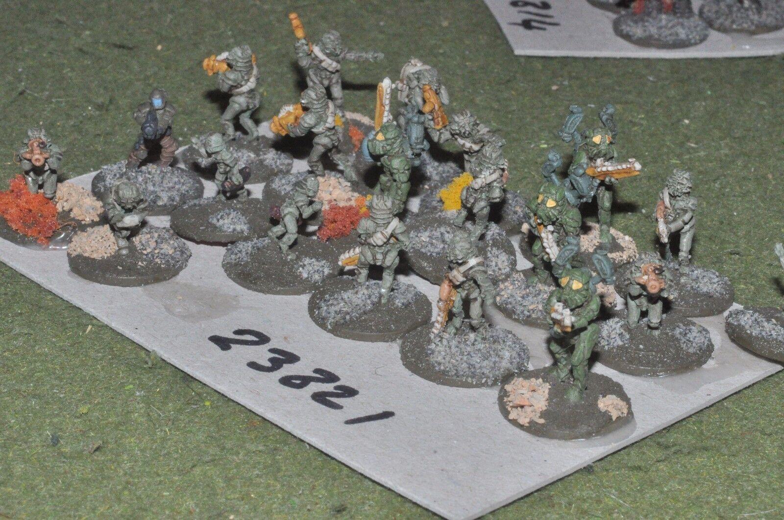 15mm scifi   lizard - combat team 20 figures - inf (23821)