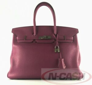 BIG-SALE-AUTHENTIC-11900-HERMES-Tosca-Clemence-Birkin-35-Bag