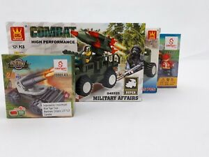 Wange-Loongon-Army-amp-Firefighter-Building-Blocks-Sets-Bundle-of-4