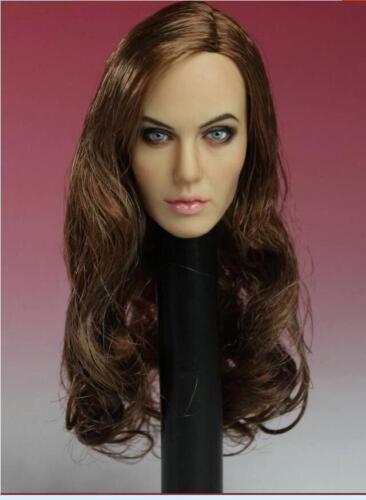 Custom Angelina Jolie 1//6 Head Sculpt for Hottoys Kumik Female Body Maleficent