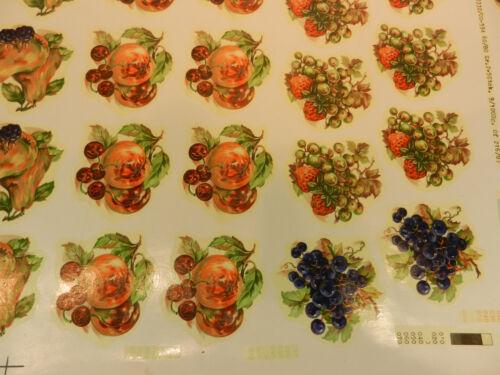 Konvolut 144 Bilder Schiebebilder Abziehbilder Obst Nüsse Dekorieren Einbrennen