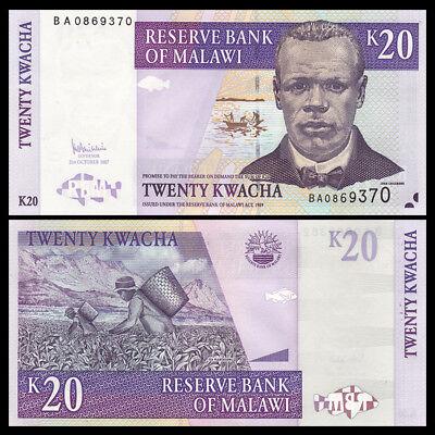 MALAWI 50 KWACHA 2007 P 53 AU-UNC