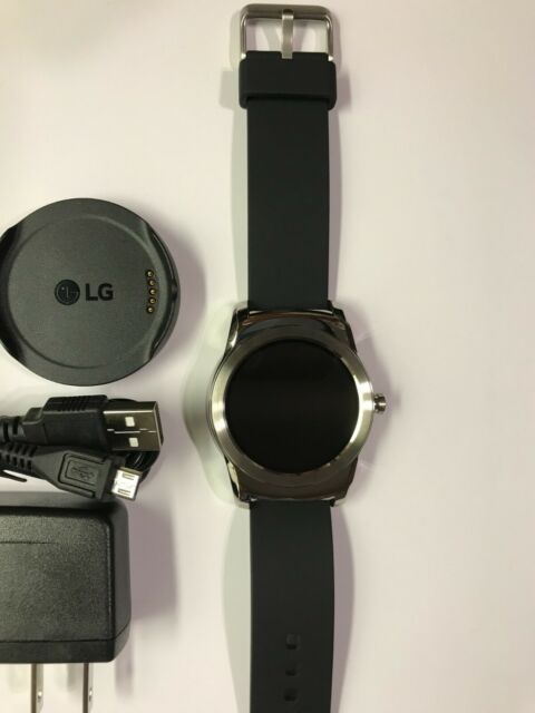 LG Watch Urbane W150 Smartwatch 46mm Stainless Steel-Silver-Leather GW150.AUSASV