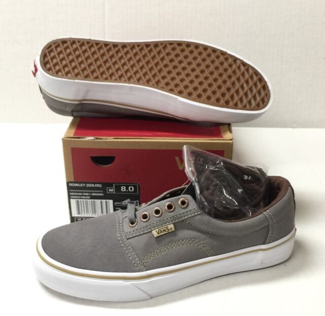 89ee1ab454 VANS Rowley Solos (medium Grey brown) Men s Skate Shoes 8 Grey