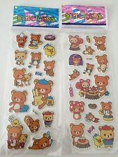 *AU Seller* Rilakkuma Bear Cartoon Puffy Sticker Label For Gift *2 Design*