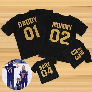 Daddy Mommy and Baby Kid Matching Family T-Shirt and ...
