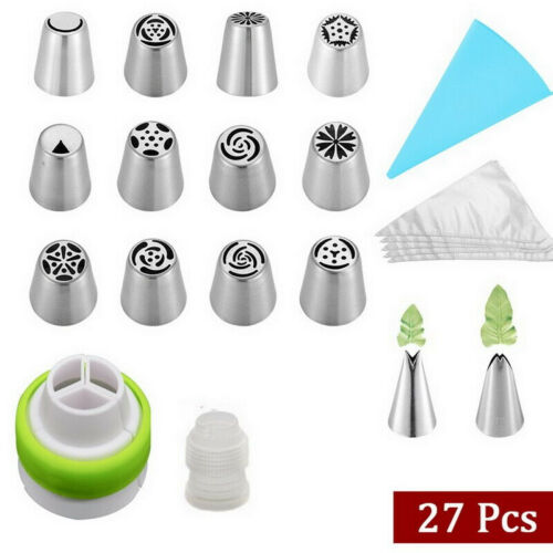 Icing Piping Nozzles Set Russian  Decorating Tips Cupcake Cake Cream Pastry Tool