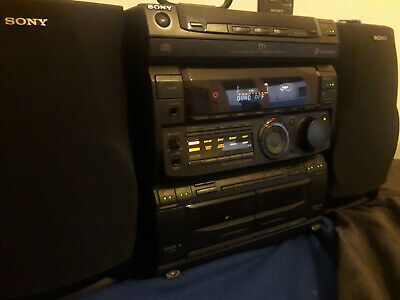 1996 Sony Mhc 771 Audio System W/ 2 Sony Ss H771 Speakers, Remote And Antenna