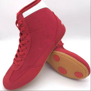 Unisex Boxing MMA Wrestling Shoes High Top Trainers Athletic Boots Martial Arts