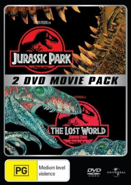 Jurassic Park plus The Lost World 2-Disc  Ultimate Collector's Pack - Free Post!