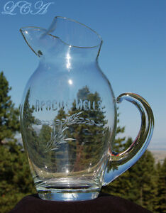 Rustic-APACHE-WELLS-Golf-Championship-GLASS-PITCHER-trophy-ALENA-FORD-1970