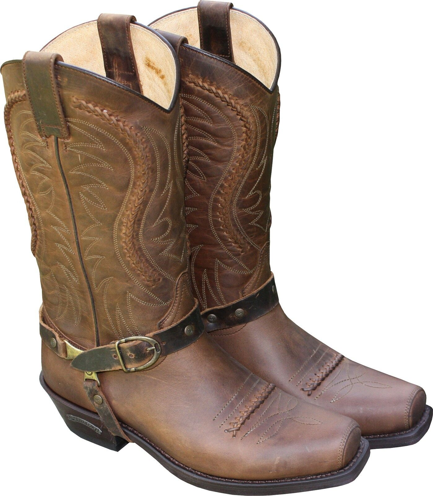 SENDRA STIEFEL Leder Western Braun Country BOOTS Lederstiefel Cowboystiefel