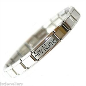 4ce3e2373a642 Details about JSC Italian Charm SHINY STARTER BRACELET & 1 NAME - Fits  Nomination Classic