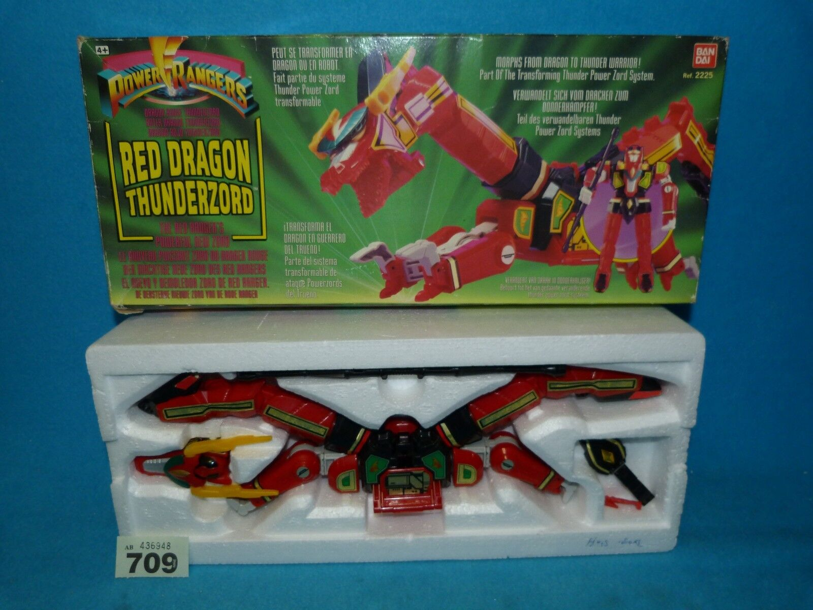 POWER RANGERS ROT DRAGON THUNDERZORD BOXED ALL PARTS 709