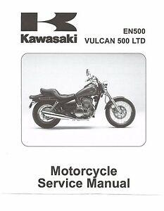 kawasaki service manual 2001 2002 2003 2004 2005 vulcan 500 ltd rh ebay com kawasaki vulcan 500 ltd owners manual 1993 Kawasaki Vulcan 500 Specs
