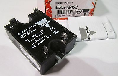 NEW CARLO GAVAZZI RA2425-D06TFS27 SOLID STATE RELAY AC51 25A 250V 3-32VDC