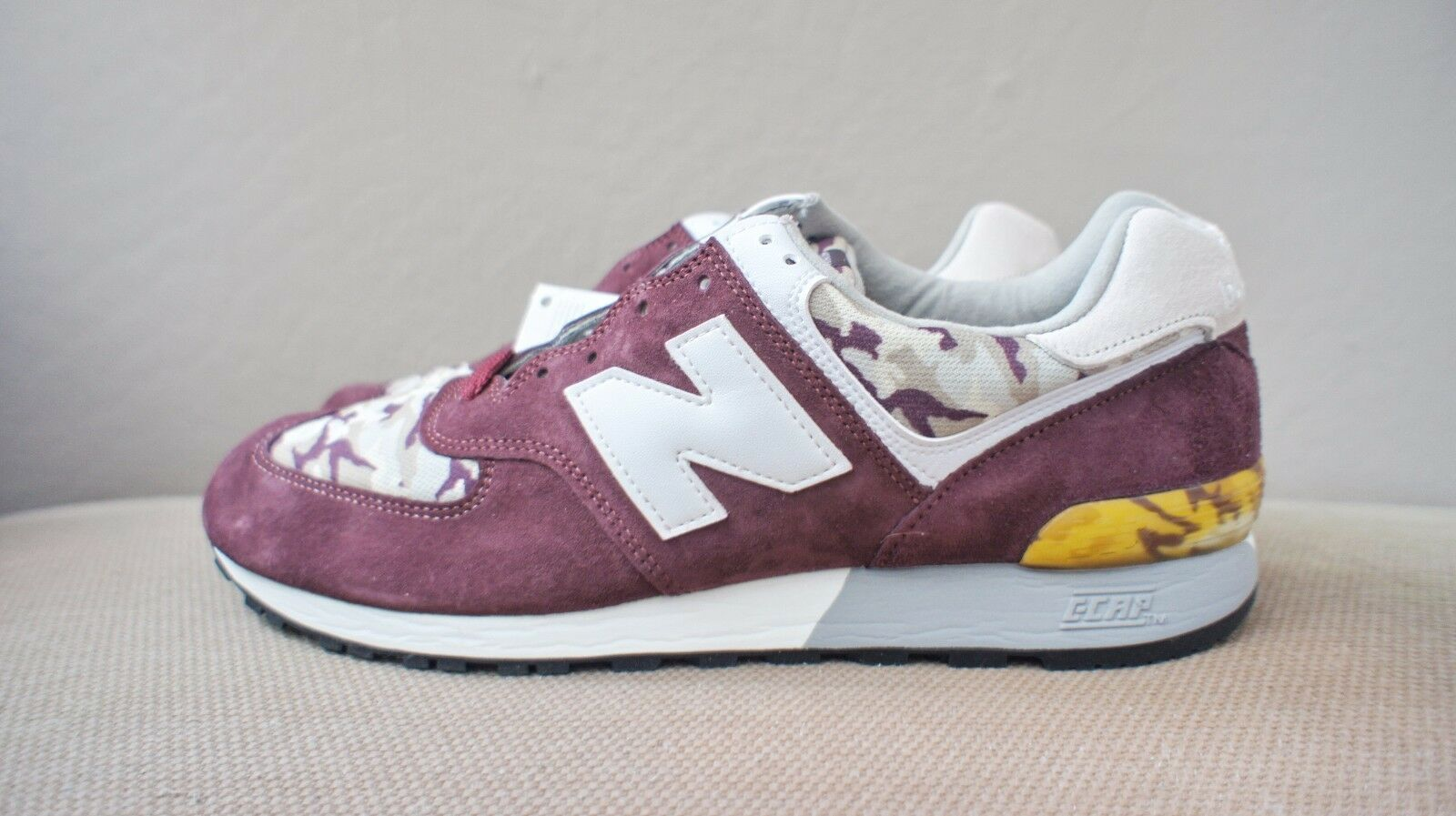 New DS New Balance NB US576CM4 576 Camo Burgundy Made in USA Uomo sz 11.5 or 12