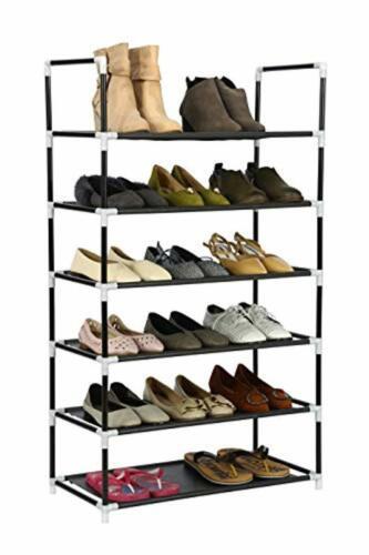 "Homebi 6-Tier Shoe Rack Shoes Storage Organizer,23.62/"" W x 11.02/"" D x 41.54/"" H"