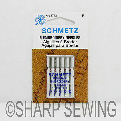 40 Schmetz Embroidery Sewing Machine Needles 40 40h H E Size 40 40 Amazing Sewing Machine Needle Brands