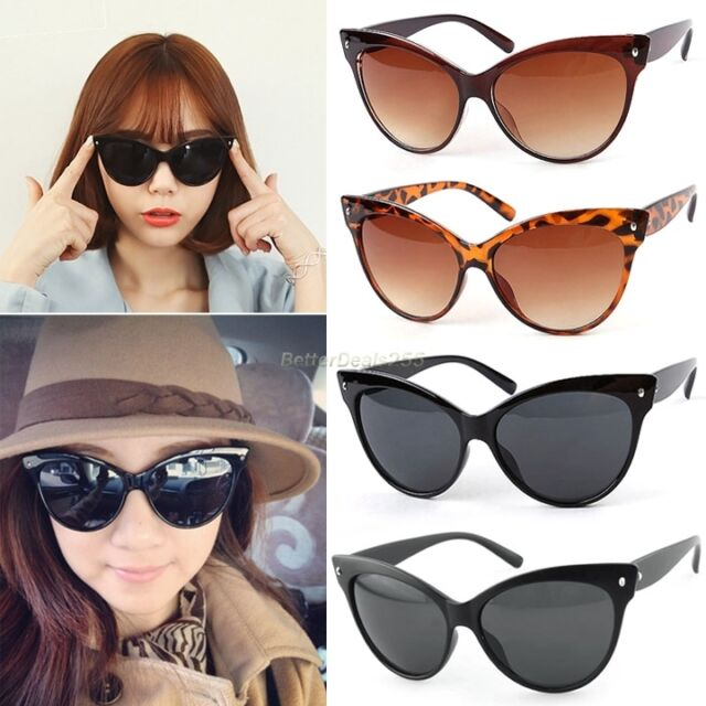Eyewear Women Vintage Style Shades Fashion Oversized Designer Sunglasses Glasses