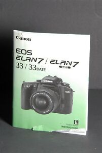 Canon eos elan 7/7e manuals.