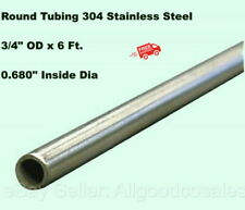 Round Tubing 304 Stainless Steel 34 Od X 6 Ft Welded 0680 Inside Dia