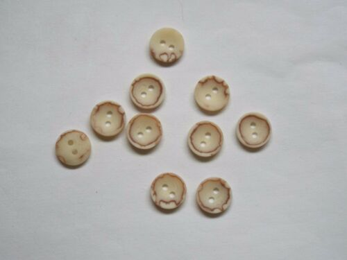 10pc 12mm Cream White Faux Bone Coat Cardigan Knitwear Button 4912