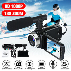 Portable-Full-HD-1080P-24MP-18X-Zoom-3-039-039-LCD-Digital-Camcorder-Video-Camera-Mic