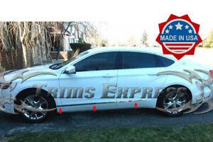 2014-2019-Chevy-Impala-6Pc-Flat-Body-Side-Molding-Trim-1-1-4-034-Line-Door-Cover-U
