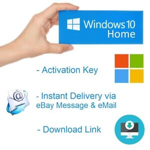 Microsoft-Win-dows-10-HOME-KEY-32-64-Bit-OEM-Product-MS-Win-Activation-Schluessel