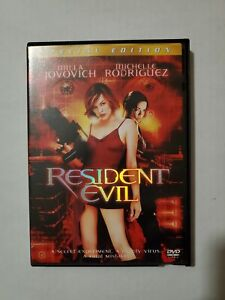 Resident Evil 2002 Milla Jovovich Michelle Rodriguez Dvd Like