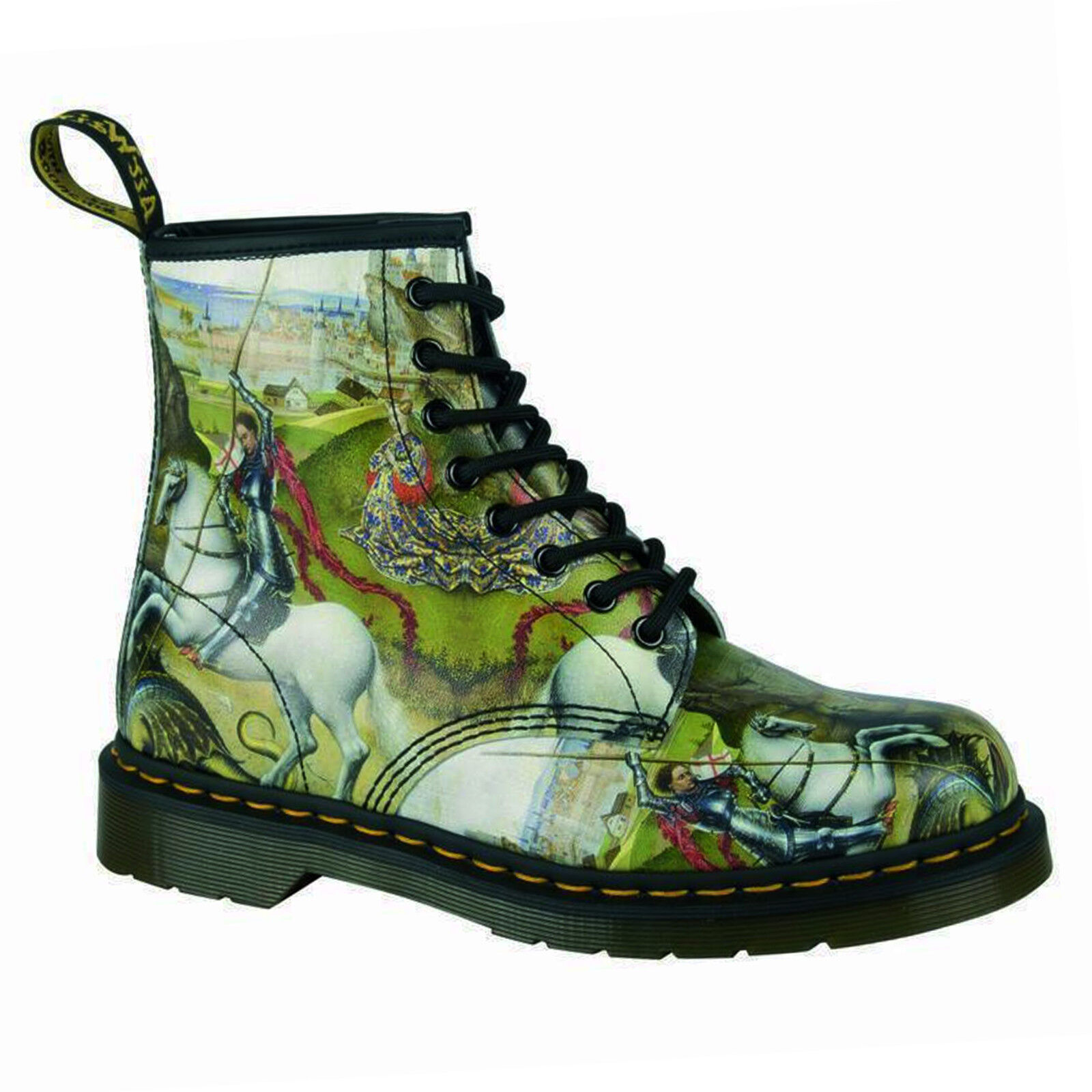 Dr. Martens - 1460 George & Dragon Backhand Zapatos Multi Docs Rarität 8-Loch Zapatos Backhand cc240f