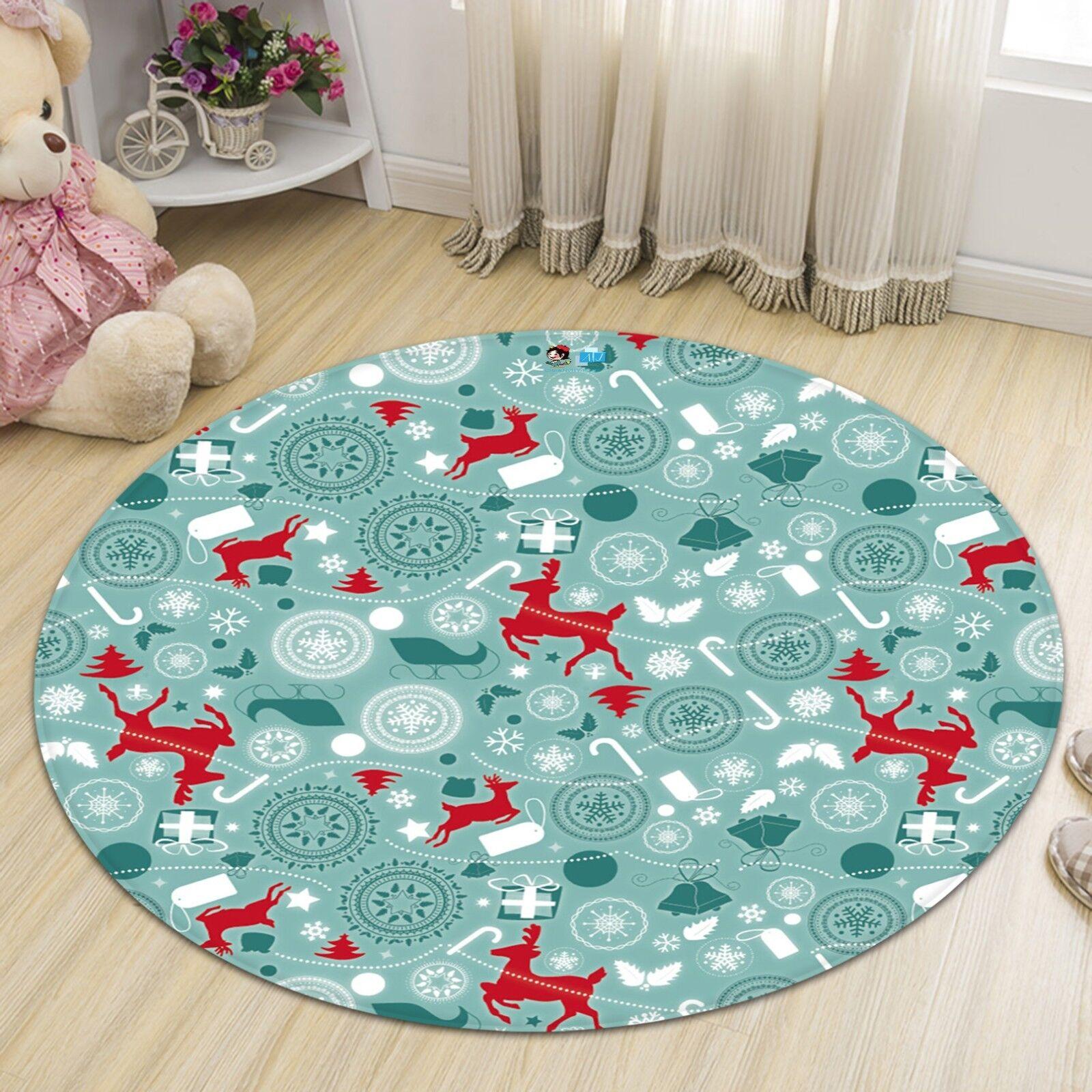 3D Natale Xmas 639 Antiscivolo Tappeto Tappetino stuoia di qualità rossoondo Elegante Tappeto foto Regno Unito