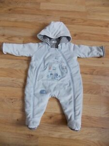 2ab08676a2e4 MAMAS AND PAPAS BABY BLUE PRAM SNOWSUIT 3-6 MONTHS NEW WITHOUT TAGS ...