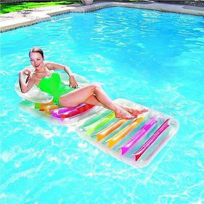 BESTWAY INFLATABLE SWIMMING POOL LOUNGER AIR LOUNGE FLOAT FASHION CHAIR LILO FUN